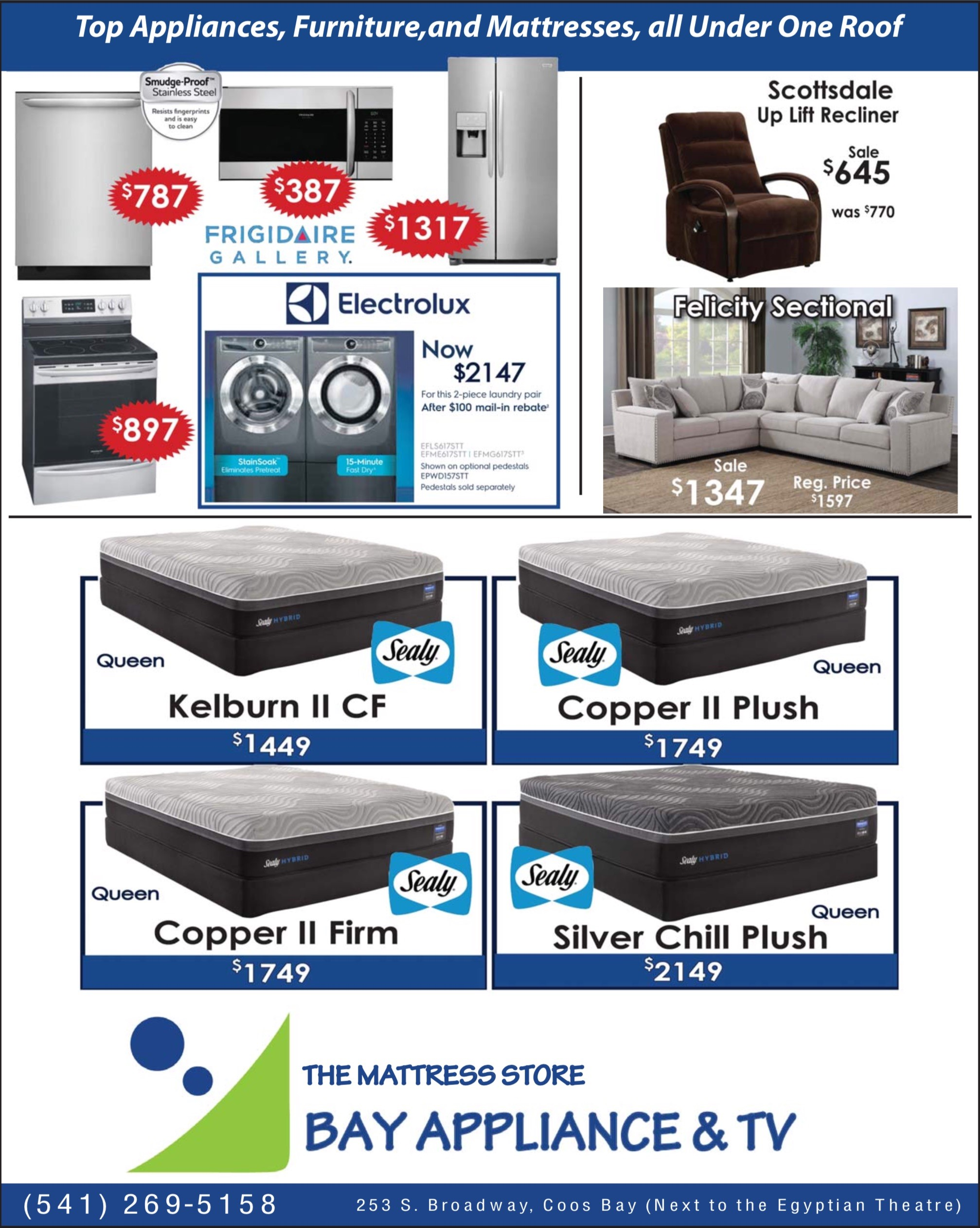 May Specials From Bay Appliance Coos Bay Events Calendar