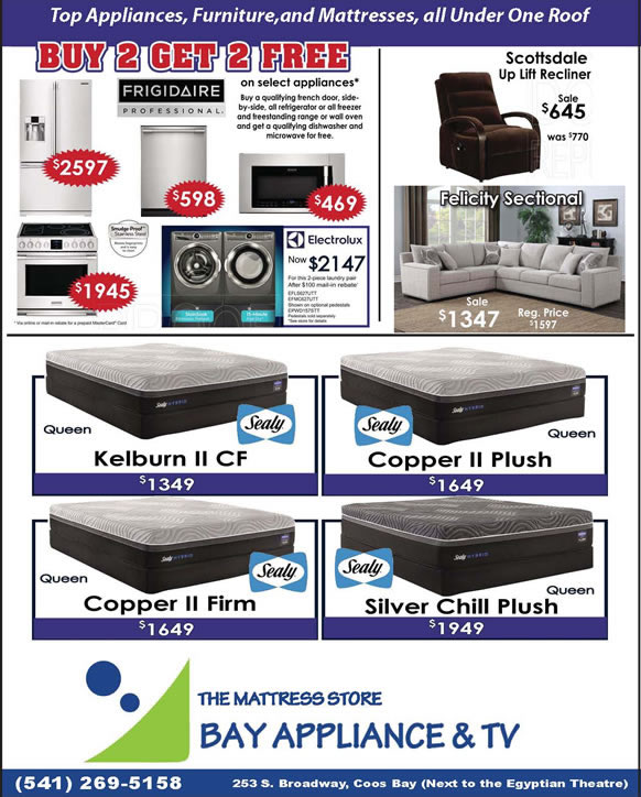 Bay Appliance Amp Tv July Special Coos Bay Events Calendar